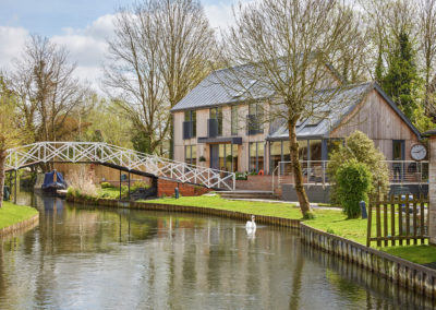 New build for sustainable canal side cottage in Newbury