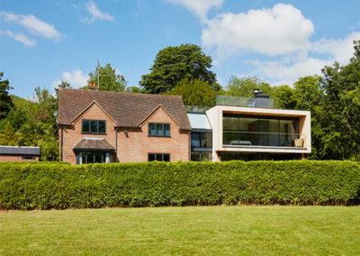 Riverside contemporary home extension in Streatley, Berkshire