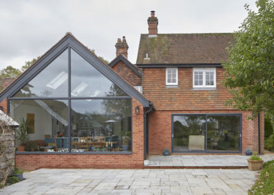 Reconfiguration and extension of period property, connecting the house together